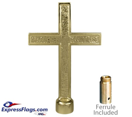 Metal Passion Cross Ornaments for Indoor Display FlagpolesR-30