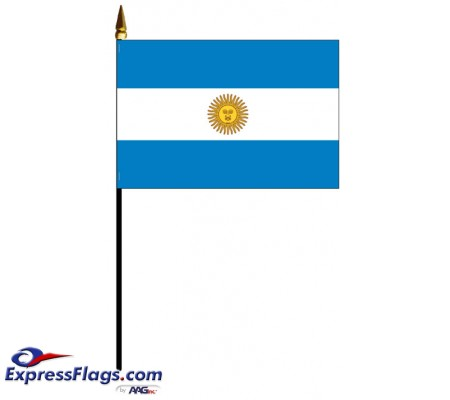 Argentina with Seal Mounted FlagsARG-MTD
