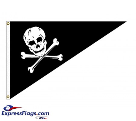 10in x 15in Jolly Roger Outdoor Pennant Flags080687