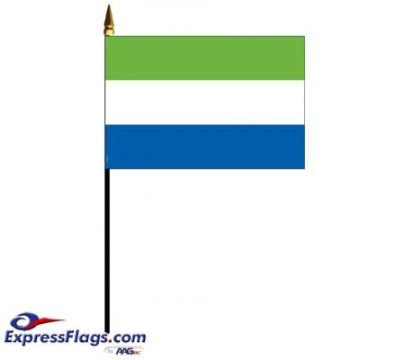 Sierra Leone Mounted Flags - 4in x 6in033718