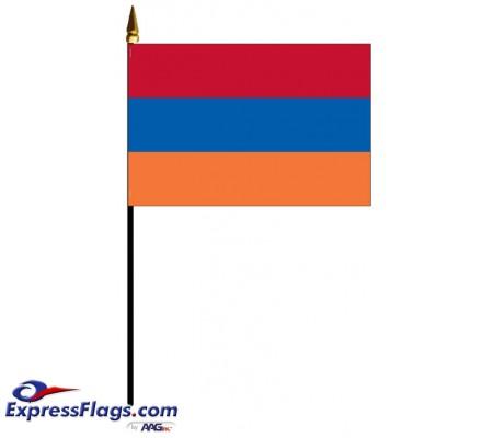 Armenia Mounted Flags - 4in x 6in030219