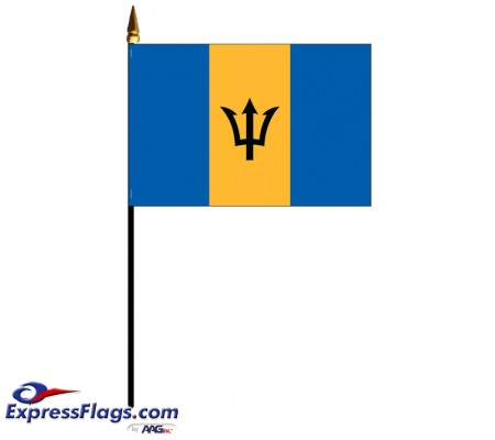 Barbados Mounted Flags030407