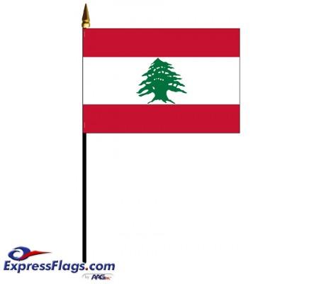 Lebanon Mounted Flags - 4in x 6in032391