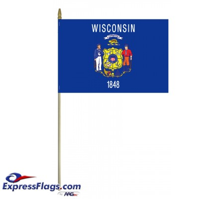 Mounted Wisconsin State Flags