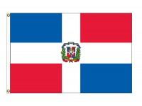 Dominican Republic Nylon Flags - (UN, OAS Member)