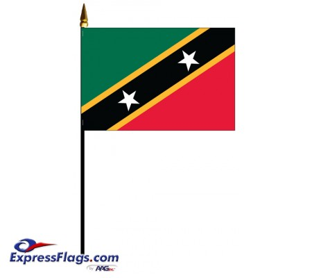 Saint Chris-Nevis Mounted Flags033481
