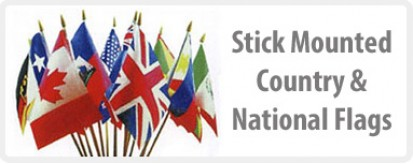 Stick Mounted International Flags