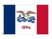 Nylon Iowa State Flags