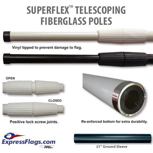 Superflex Telescoping Fiberglass PolesTSFP