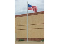 30 ft. Vanguard Aluminum Flagpole (0.156) - Internal Halyard