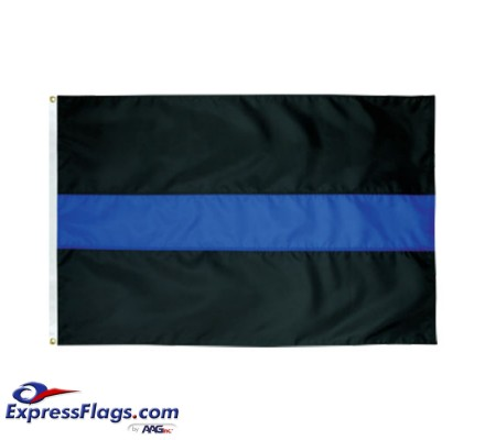 Thin Blue Line Flag - 3  x 5  Endura-Nylon070474