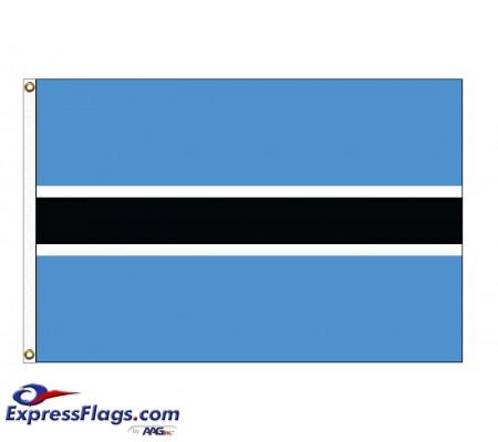 Botswana Nylon Flags - (UN Member)BWA-NYL
