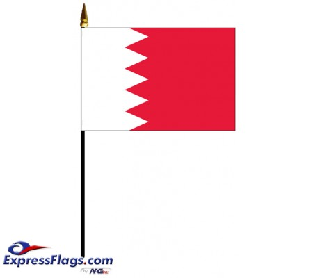 Bahrain Mounted Flags - 4in x 6in030373