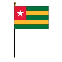 Togo Mounted Flags - 4in x 6in