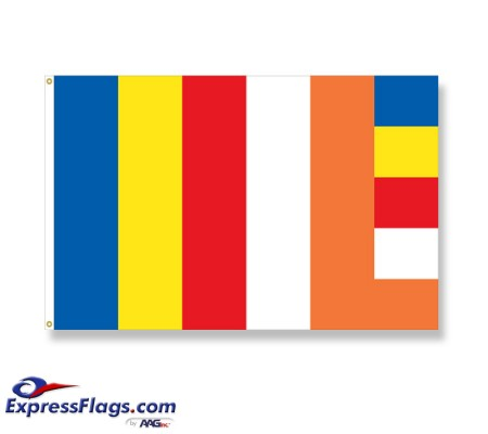 3  x 5  ENDURA-NYLON Buddhist Flags040157