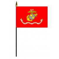 Marine Corps Flags - Stick Mounted
