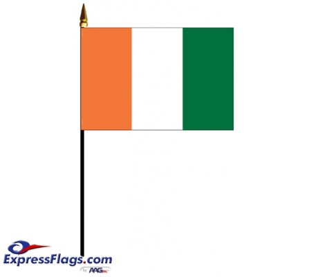 Cote D Ivoire Mounted Flags - 4in x 6in031047
