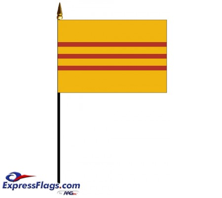 South Vietnam Mounted Flags - 4in x 6in034482