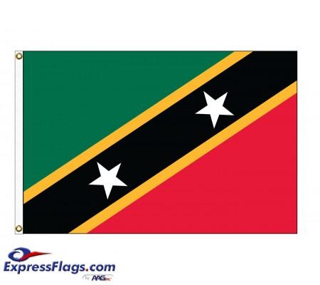 Saint Chris-Nevis Nylon Flags (UN, OAS Member)KNA-NYL