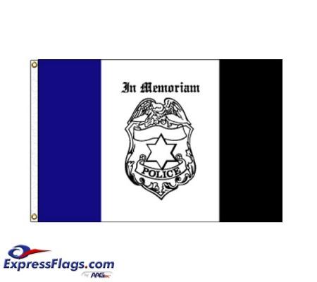 Police Mourning Flag - 3  x 5  Endura-Nylon070313