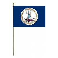 Mounted Virginia State Flags