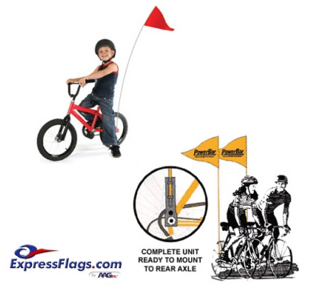 Bike Safety Flags Complete SetBSF-Set
