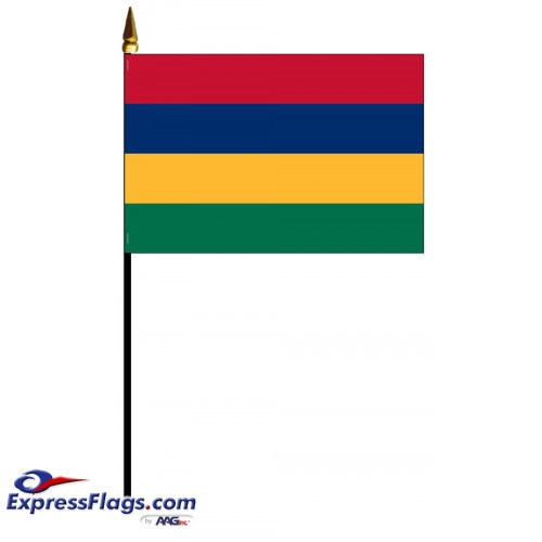 Mauritius Mounted Flags - 4in x 6in032678