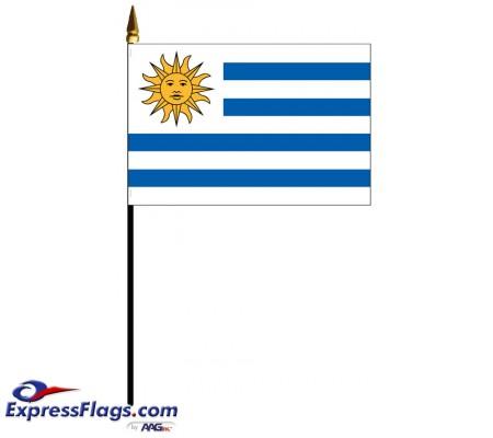 Uruguay Mounted Flags034357