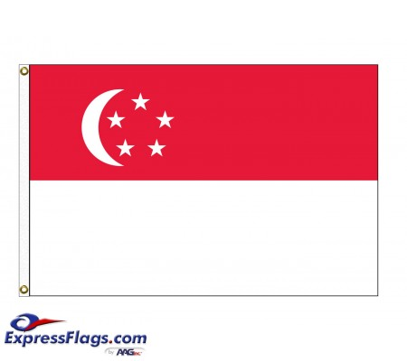 Singapore Nylon Flags (UN Member)SGP-NYL