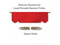 Deluxe Aluminum Lead Parade Banner Poles with Spear Ends