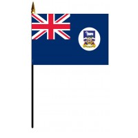 Falkland Islands Mounted Flags - 4in x 6in
