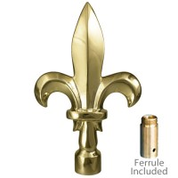 Metal Fleur De Lis Ornament for Indoor Display Flagpoles