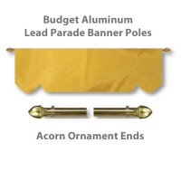 Budget Aluminum Lead Parade Banner Poles with Acorn Ornament Ends