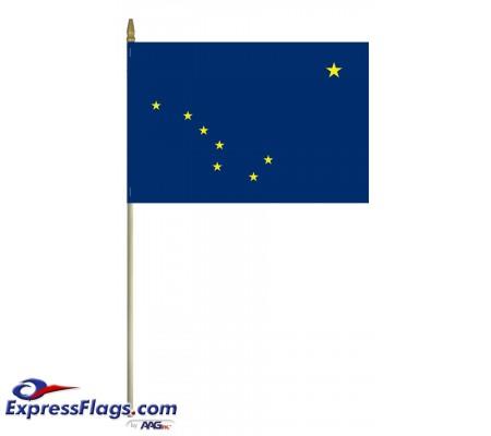 Mounted Alaska State Flags