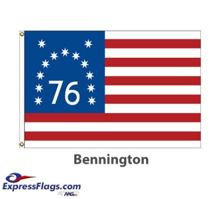 Sewn Nylon - Bennington American Historical FlagsBS-NYL
