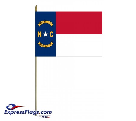 Mounted North Carolina State Flags