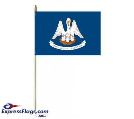 Mounted Louisiana State Flags