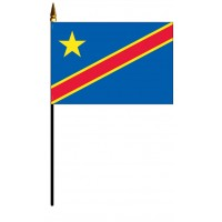 Congo Democratic Republic Mounted Flags - 4in x 6in