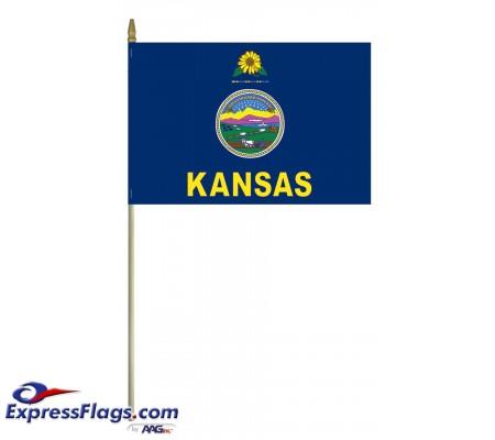 Mounted Kansas State Flags