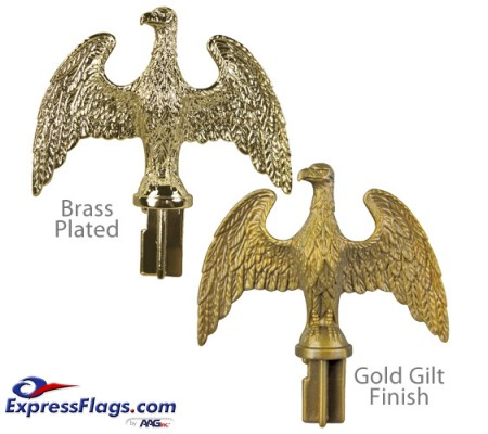 Plastic Slip-Fit Eagle Ornaments for Indoor Display FlagpolesPSFE