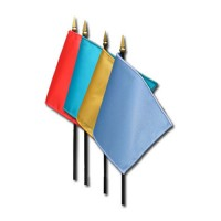 Solid Color Nylon Stick Flags - 4in x 6in