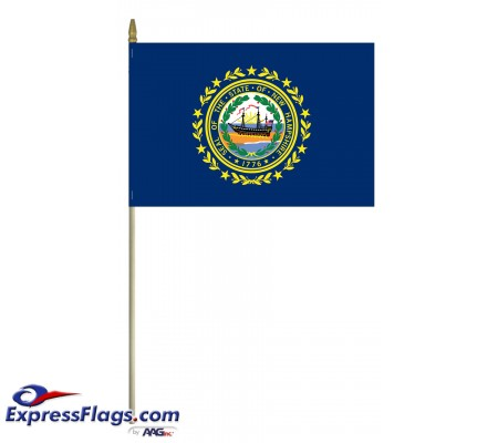 Mounted New Hampshire State Flags