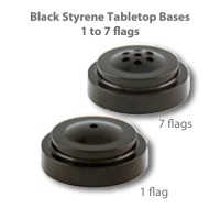 Black Styrene Plastic Tabletop Flag Bases