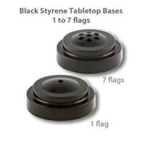 Black Styrene Plastic Tabletop Flag Bases