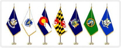 State Flags, U.S. Territory Flags - Indoor Display Sets