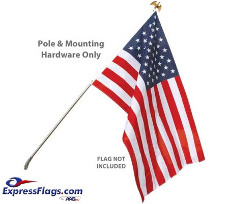 Wall Mount Residential Flagpole Sets - No FlagWMFS