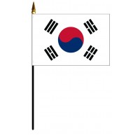 Korea, South Mounted Flags