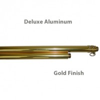 Deluxe Aluminum Indoor Poles - Gold Finish