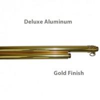 Deluxe Aluminum Indoor Poles - Gold Finish