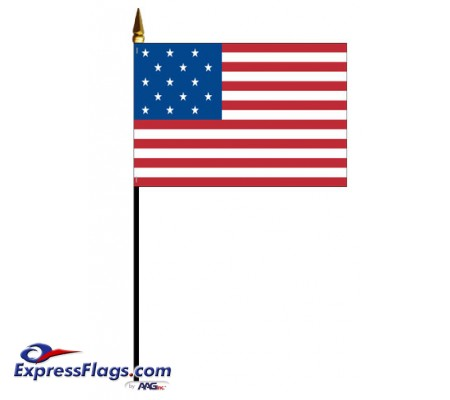 Mounted Evolution of Old Glory American Historical FlagsEOG-MTD